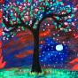 """25.10.2018 / Тема """"Цветущее дерево"""" в Библиотеке Удельнинской (Группа №2)"""