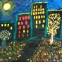 """08.11.2018 / Тема """"Лунная ночь в городе"""" в Библиотеке Удельнинской (Группа №2)"""