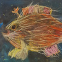 """11. 2020 / """"Волосатая рыба-клоун"""". Автор работы: Упорова Алиса (10 лет)"""