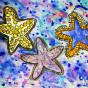 """12. 2020 / """"Морские звезды"""". Автор работы: Сергеева Анастасия (8 лет)"""