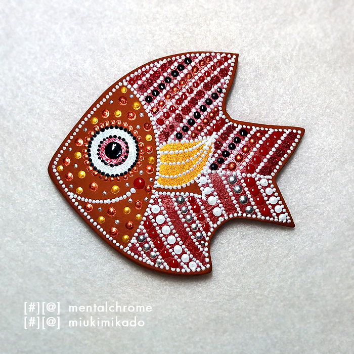 МАГНИТ, КЕРАМИКА / РЫБКА (арт. 000229)