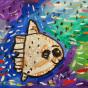 """21.01.2020 / """"Рыба-луна"""". Автор работы: Шипулина Маргарита (7 лет)"""