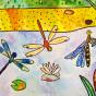 """14.02.2020 / """"Стрекозы"""". Автор работы: Сергеева Анастасия (7 лет)"""