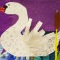 """19.02.2020 / """"Лебедь"""". Автор работы: Сергеева Анастасия (7 лет)"""