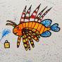 """01.03.2020 / """"Крылатка-зебра"""". Автор работы: Упорова Алиса (9 лет)"""