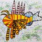 """01.03.2020 / """"Крылатка-зебра"""". Автор работы: Патрикеева Дарья (6 лет)"""
