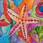 """11.03.2020 / """"В море"""". Автор работы: Ижболдина Мария (8 лет)"""