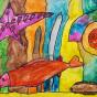 "11.03.2020 / ""В море"". Автор работы: Ижболдина Маргарита (6 лет)"