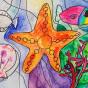 """11.03.2020 / """"В море"""". Автор работы: Морозова Елизавета (8 лет)"""