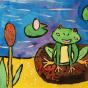 """11.03.2020 / """"Лягушка"""". Автор работы: Сергеева Анастасия (7 лет)"""