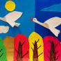 """20.03.2020 / """"Гуси"""". Автор работы: Сергеева Анастасия (7 лет)"""