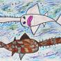 """09.02.2020 / """"Рыба-пила"""". Автор работы: Патрикеева Дарья (6 лет)"""
