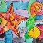 """11.03.2020 / """"В море"""". Автор работы: Патрикеева Дарья (6 лет)"""