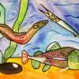 """25.03.2020 / """"Угорь, сом, рыба-игла"""". Автор работы: Сергеева Анастасия (7 лет)"""