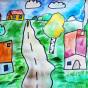 """15.06.2020 / """"Деревня"""". Автор работы: Патрикеева Дарья (6 лет)"""