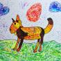 """19.06.2020 / """"Собака"""". Автор работы: Патрикеева Дарья (6 лет)"""