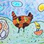 """21.06.2020 / """"Курочка"""". Автор работы: Патрикеева Дарья (6 лет)"""