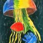 """11. 2020 / """"Медузы"""". Автор работы: Упорова Алиса (10 лет)"""