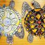 """02. 2021 / """"Морская черепаха"""". Автор работы: Сергеевы Надежда (4 года), Анастасия (8 лет)"""