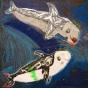 """03. 2021 / """"Серые дельфины"""". Автор работы: Сергеева Анастасия (8 лет)"""