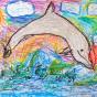 """03. 2021 / """"Дельфин"""". Автор работы: Сергеева Надежда (4 года)"""