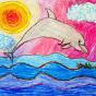 """03. 2021 / """"Дельфин"""". Автор работы: Сергеева Анастасия (8 лет)"""