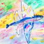 "04. 2021 / ""Летучая рыба"". Автор работы: Сергеева Надежда (4 года)"