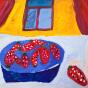 """30.09.2017 / """"Клубника"""" в Творческой студии. Автор работы: Клемин Лев (8 лет)"""