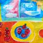 """01.10.2017 / """"Клубника"""" в Творческой студии. Автор работы: Александров Митя (9 лет)"""