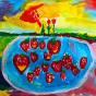 """01.10.2017 / """"Клубника"""" в Творческой студии. Автор работы: Александрова Наташа (7 лет)"""