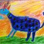 """07.10.2017 / """"Веселая собака"""" в Творческой студии. Автор работы: Токаюк Дорин (9 лет)"""