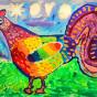 """13.10.2017 / """"Петушок"""" в Творческой студии. Автор работы: Мулгачёва Инна (7 лет)"""