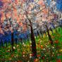 """01.07.2020 / """"Цветущие деревья"""" (холст, акрил). Мастер-класс (4 часа)"""