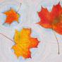 """11.10.2020 / """"Осенние листья"""" (акварель, цветные карандаши, пастель). Автор работы: Агеева Татьяна Алексеевна"""