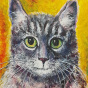 """11.2020 / """"Кот"""" (акрил). Автор работы: Евстигнеева Анна Германовна"""