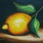 """03.2021 / """"Лимон"""" (пастель). Автор работы: Ландик Ольга Эдуардовна"""