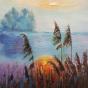 """04.2021 / """"Озеро"""" (пастель). Автор работы: Ландик Ольга Эдуардовна"""