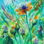 """04.2021 / """"Цветы"""" (акрил). Автор работы: Евстигнеева Анна Германовна"""