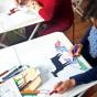 """03.10.2017 / Мастер-класс """"Дудлинг в цвете"""" в Творческой студии"""