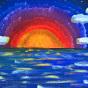 "10.08.2018 / Тема ""Закат на море"" в Библиотеке-филиале №9 ЦБС Калининского района"